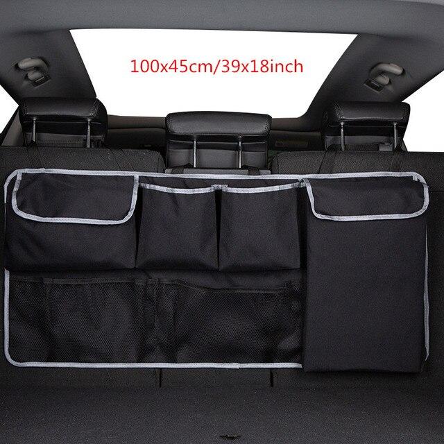Organizador de asiento trasero de coche bolsa de almacenamiento de asiento de coche maletero de auto